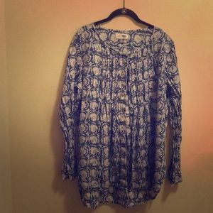 Floral tunic shirt